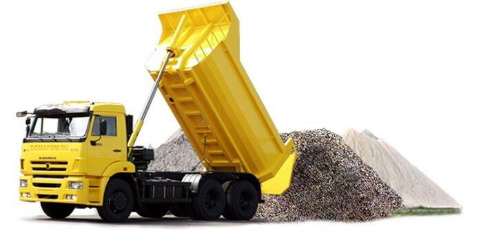 Доставка щебня, песка, гравия , ОПГС